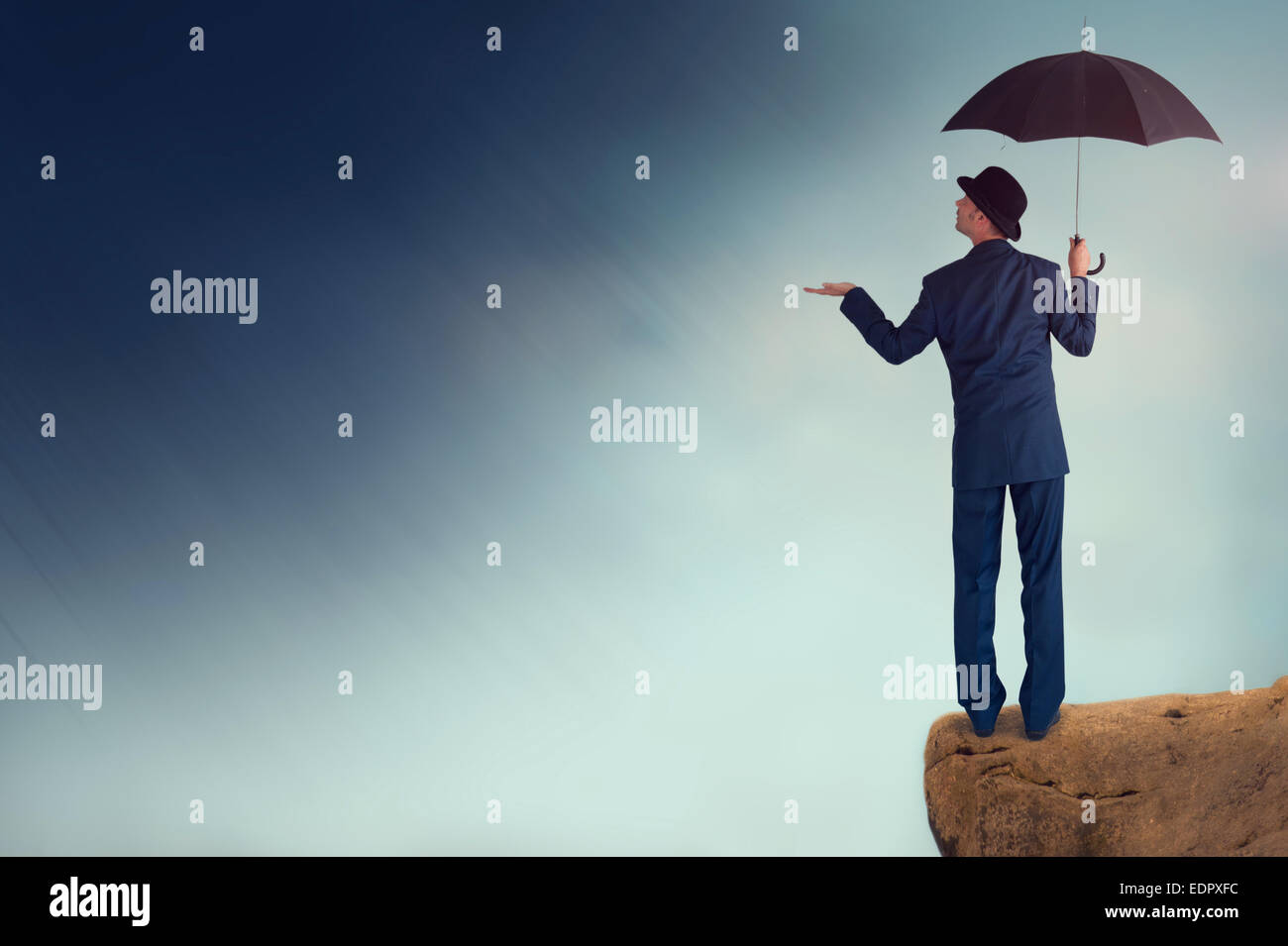 prognostizierten Konjunkturaussichten Konzept Stockbild