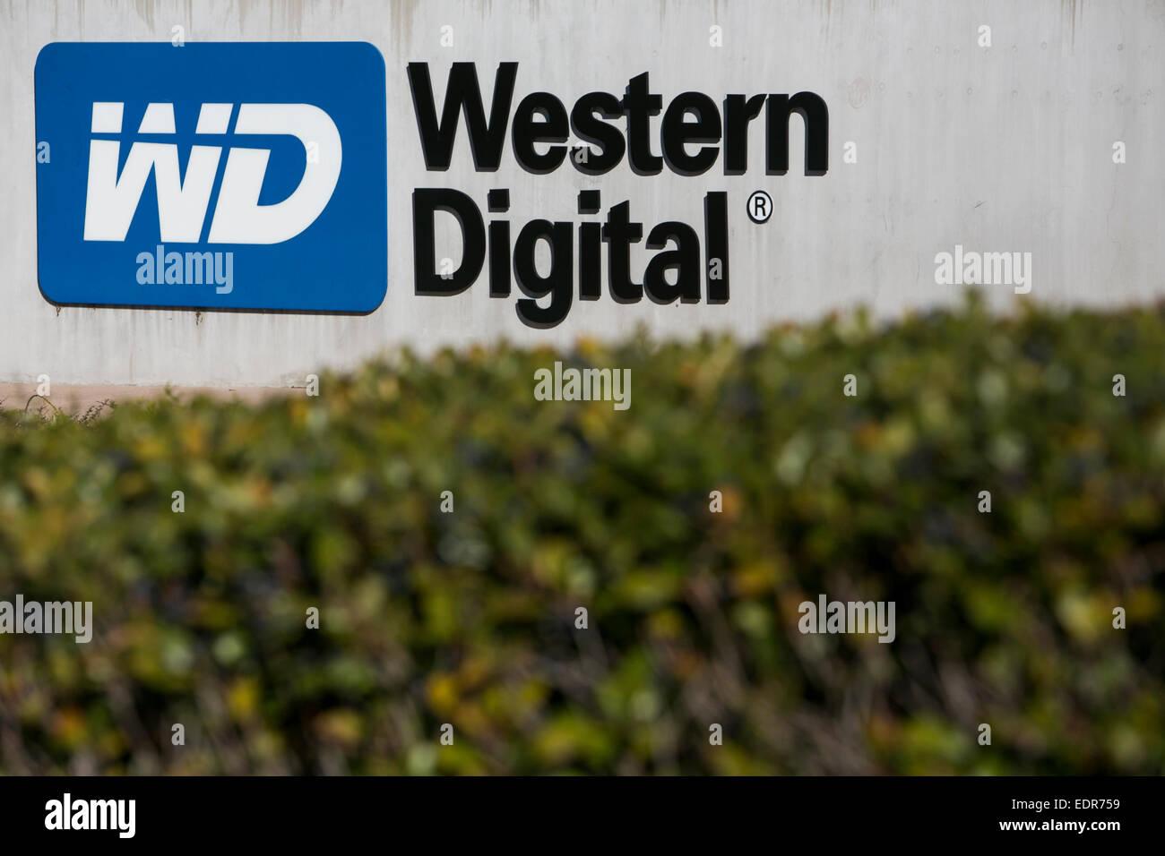 Ein Bürogebäude, besetzt durch die Western Digital Corporation in San Jose, Kalifornien. Stockbild