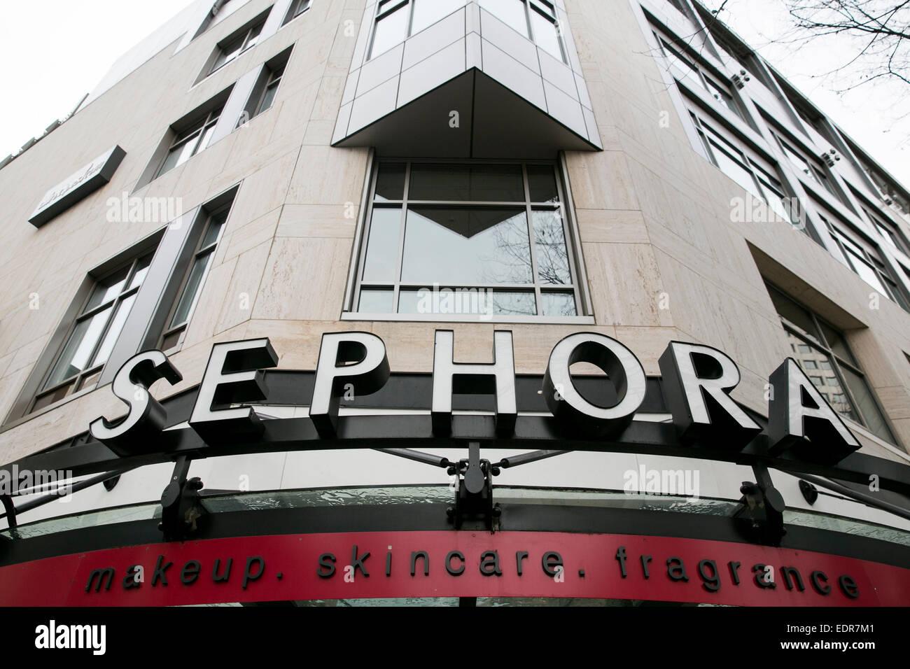 Sephora Kosmetik Einzelhandel in der Innenstadt von Seattle, Washington. Stockbild