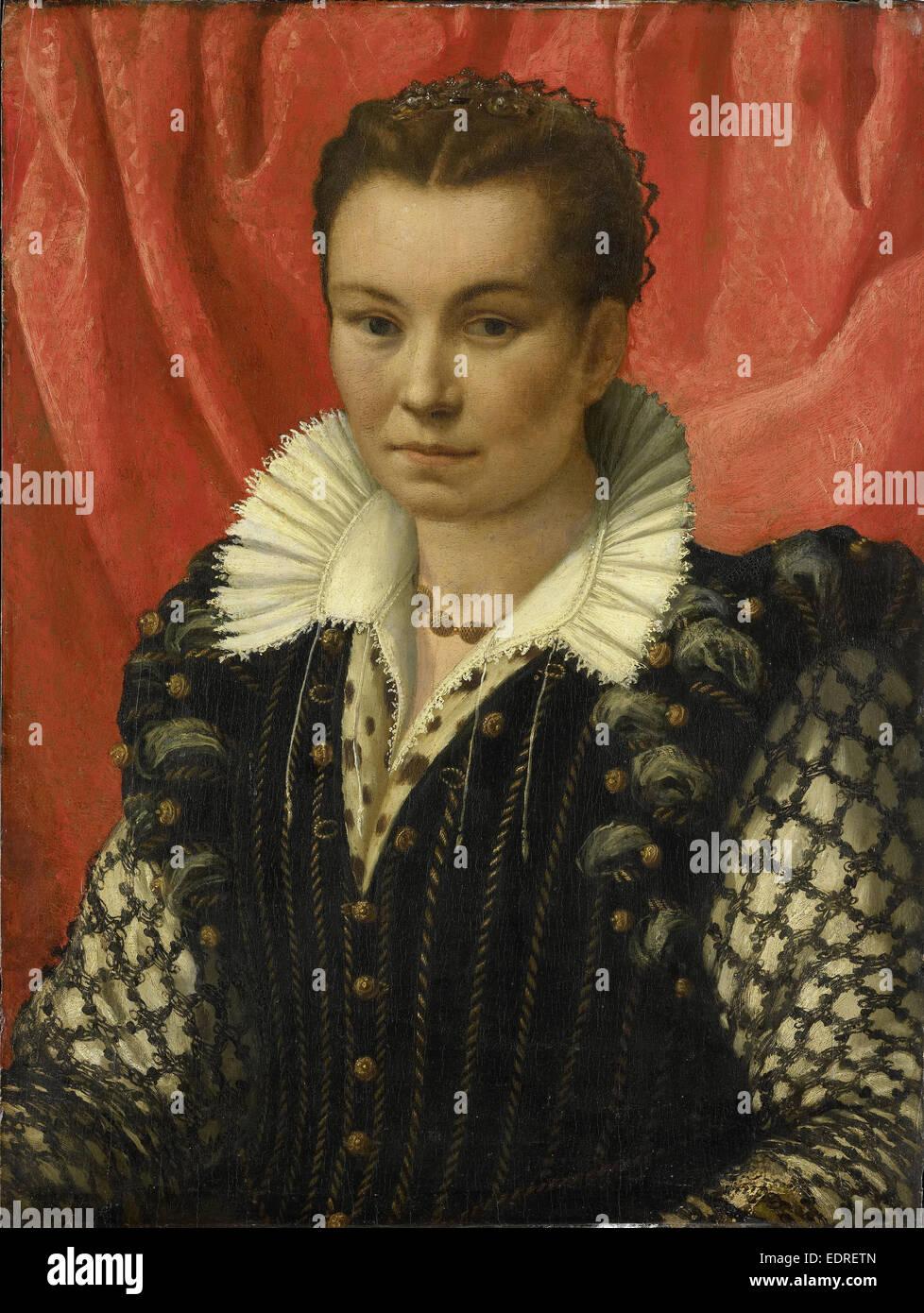 Porträt einer Frau, anonym, 1525-1549 Stockbild