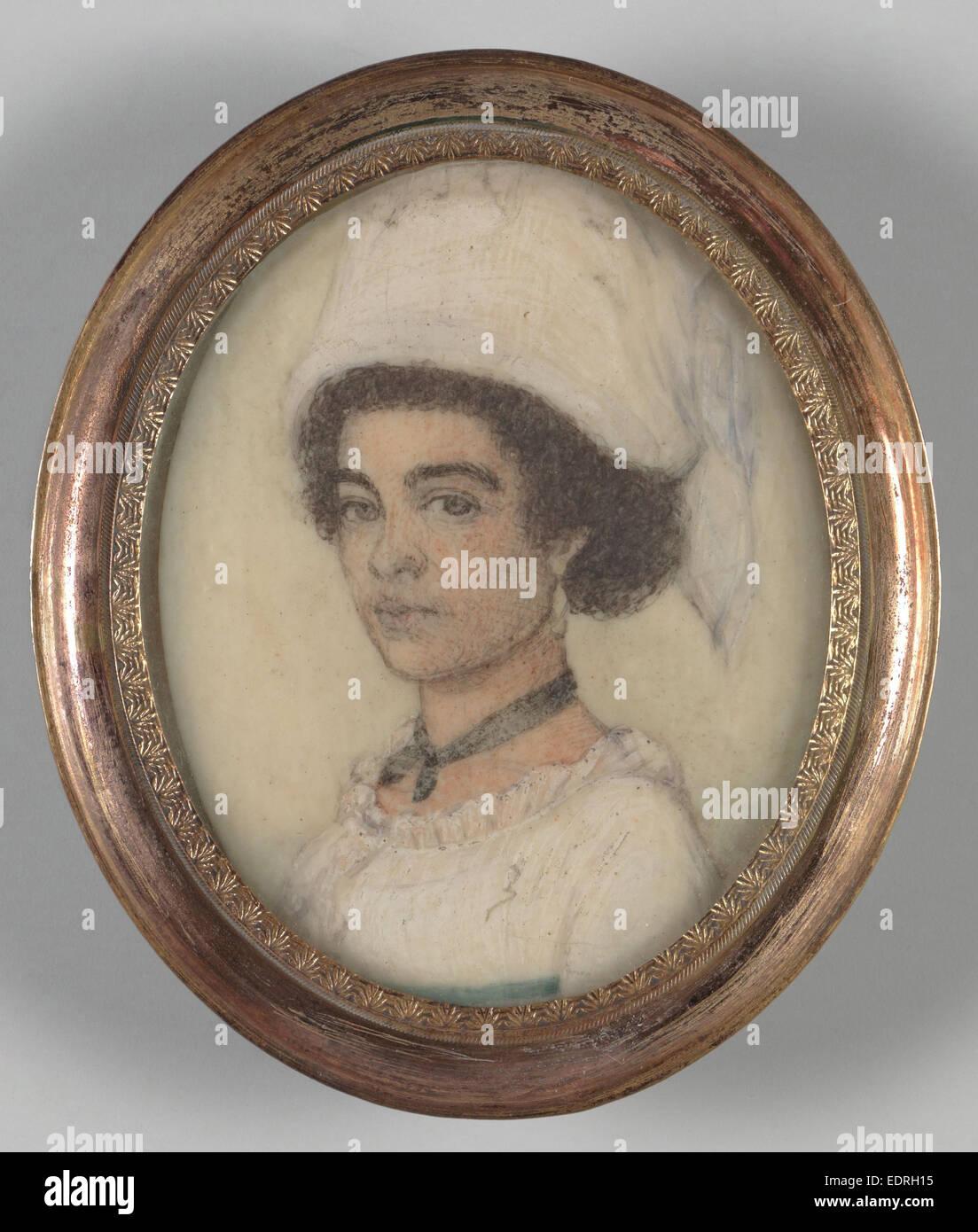 Porträts von Surinam Mädchen, anonym, c. 1805 Stockbild
