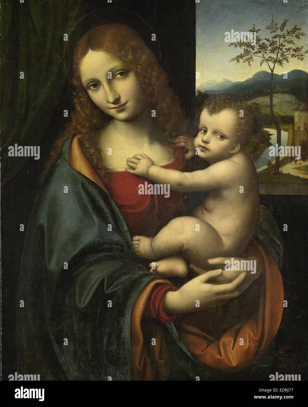 Madonna mit Kind, zugeschrieben Giampetrino, 1510-1525 Stockbild