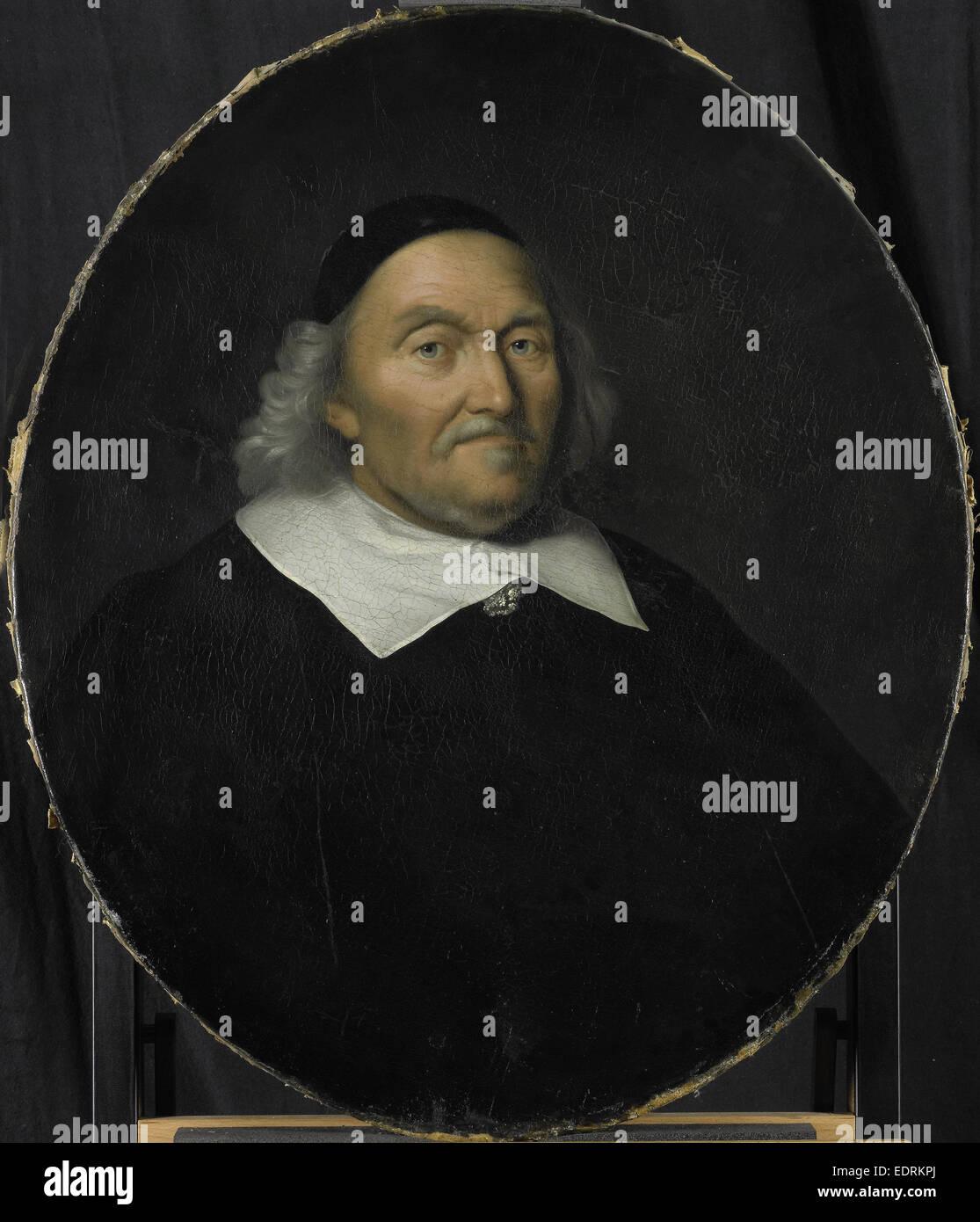 Porträt von Hendrik Nobel, Direktor der Rotterdamer Handelskammer die Niederländische Ostindien-Kompanie, Stockbild