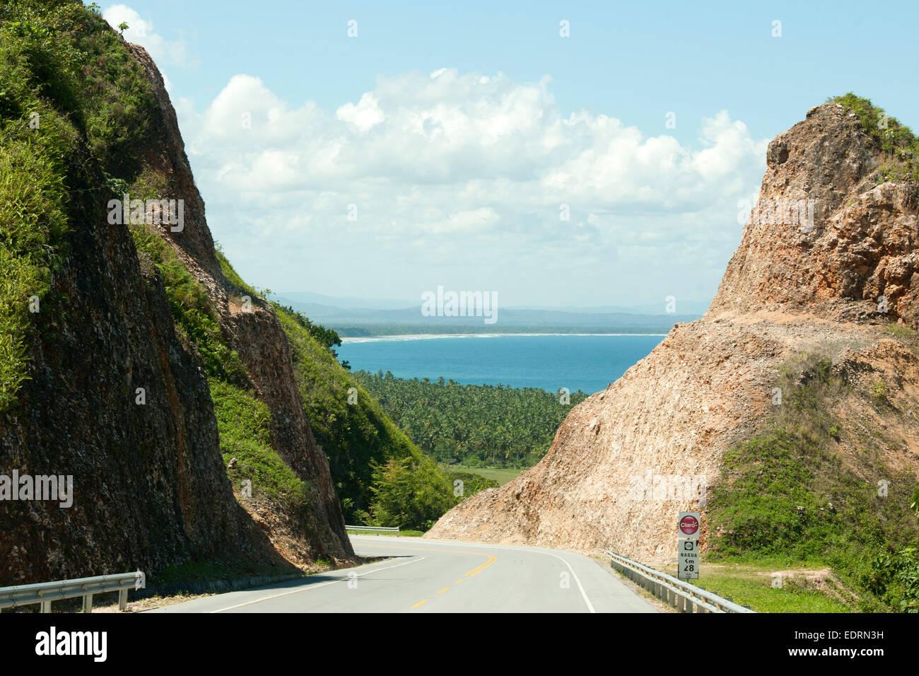 Dominikanische Republik, Halbinsel Samana, Boulevard Turistico del Atlantico eine der Nordküste Zwischen Las Stockbild