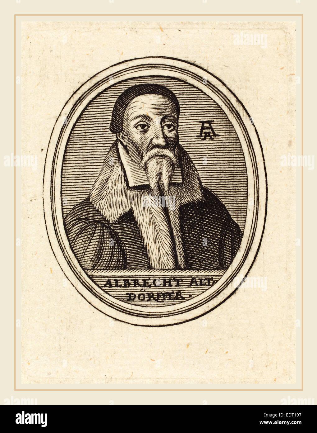 Unbekannte 16.Jahrhundert, Albrecht Altdorfer, Gravur Stockbild