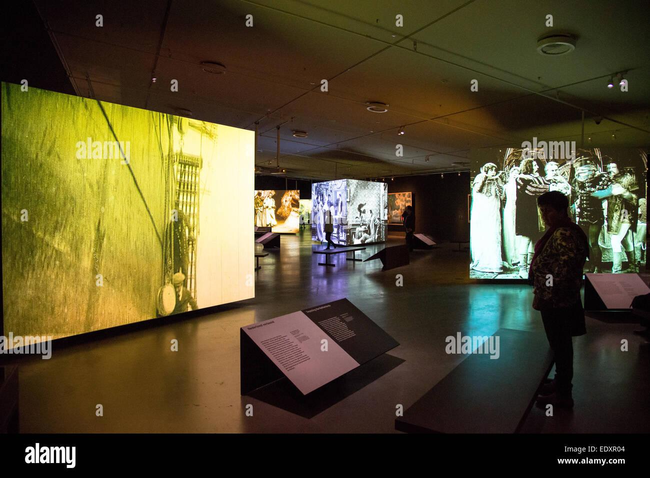 Interieur aus dem Auge-Film-Museum in Amsterdam holland Stockfoto ...