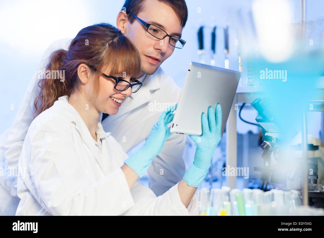 Fachkräfte des Gesundheitswesens im Labor. Stockbild