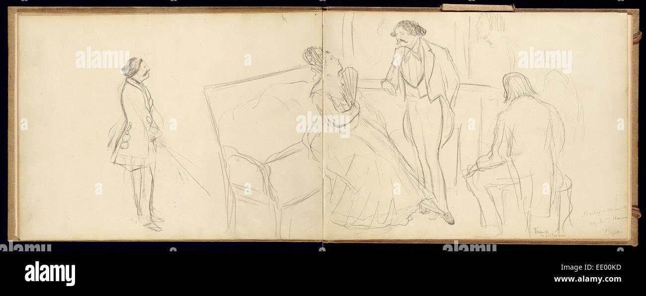 Soirée; Französisch, Edgar Degas, 1834-1917; ca. 1877 Stockbild