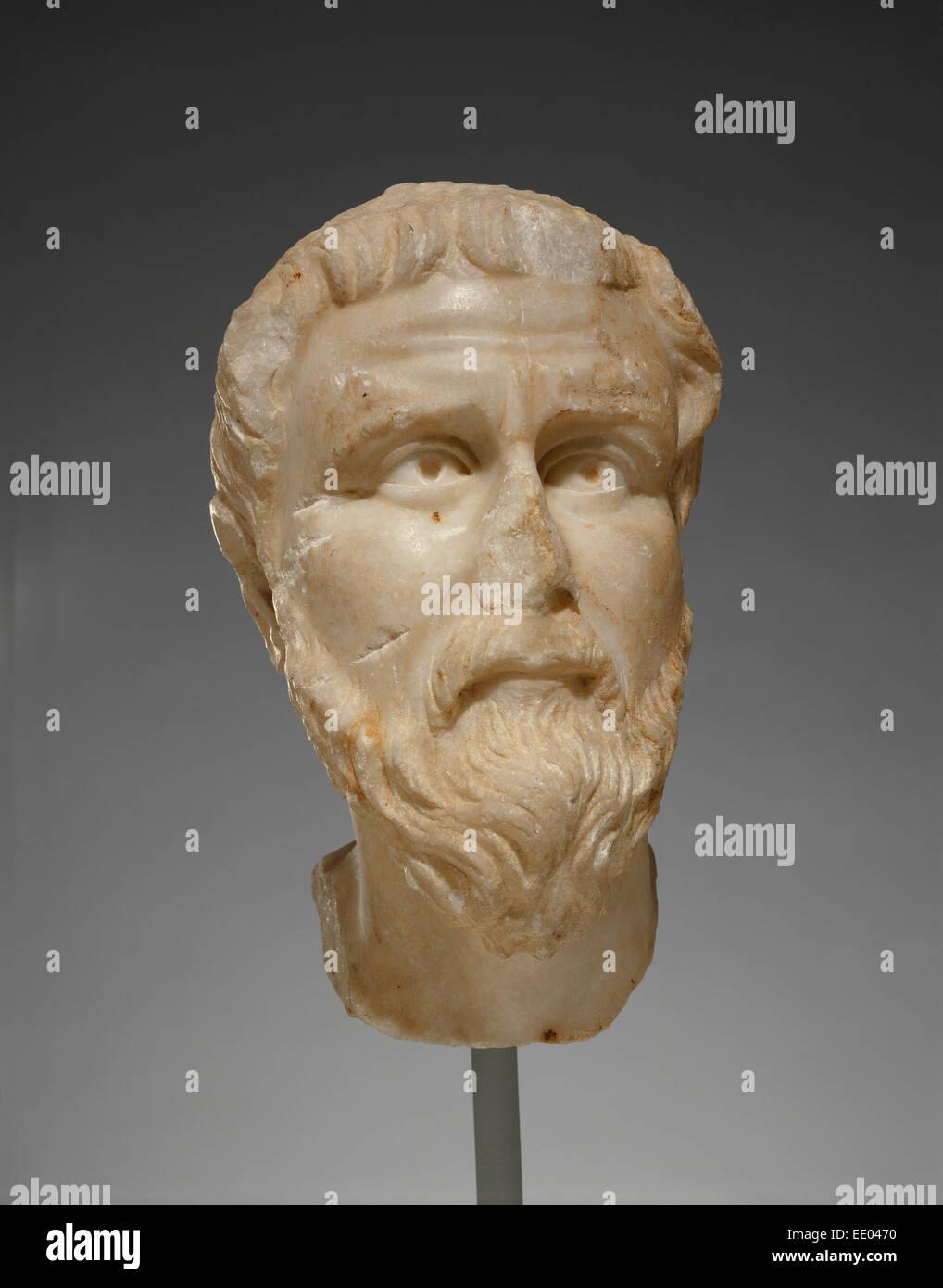 Leiter der Priester oder Saint; Unbekannt; Kleinasien; 5. Jahrhundert; Marmor Stockbild