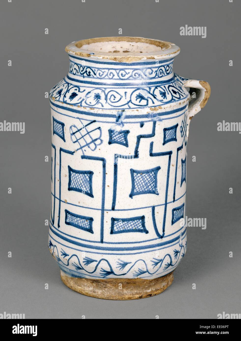 Flaschen & Gefäße 19tes Jahrhundert Albarello Italien Montelupo
