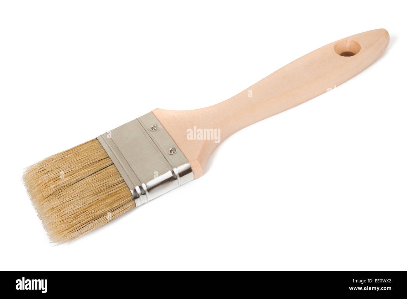 Pinsel, die isoliert auf weißem Hintergrund Stockbild