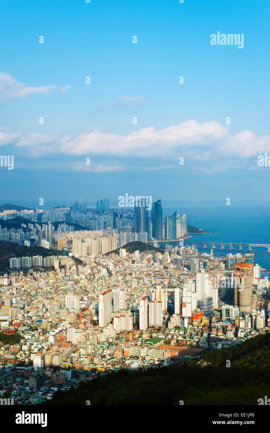 City Skyline, Busan, Südkorea, Asien Stockbild