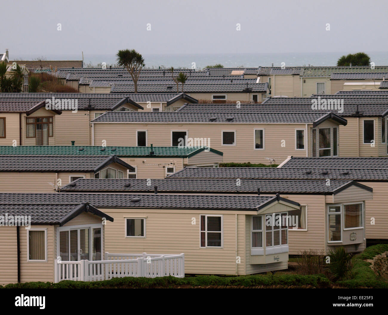 Mobilheim Mieten Cornwall : Mobilheime auf ferienpark cornwall uk stockfoto bild