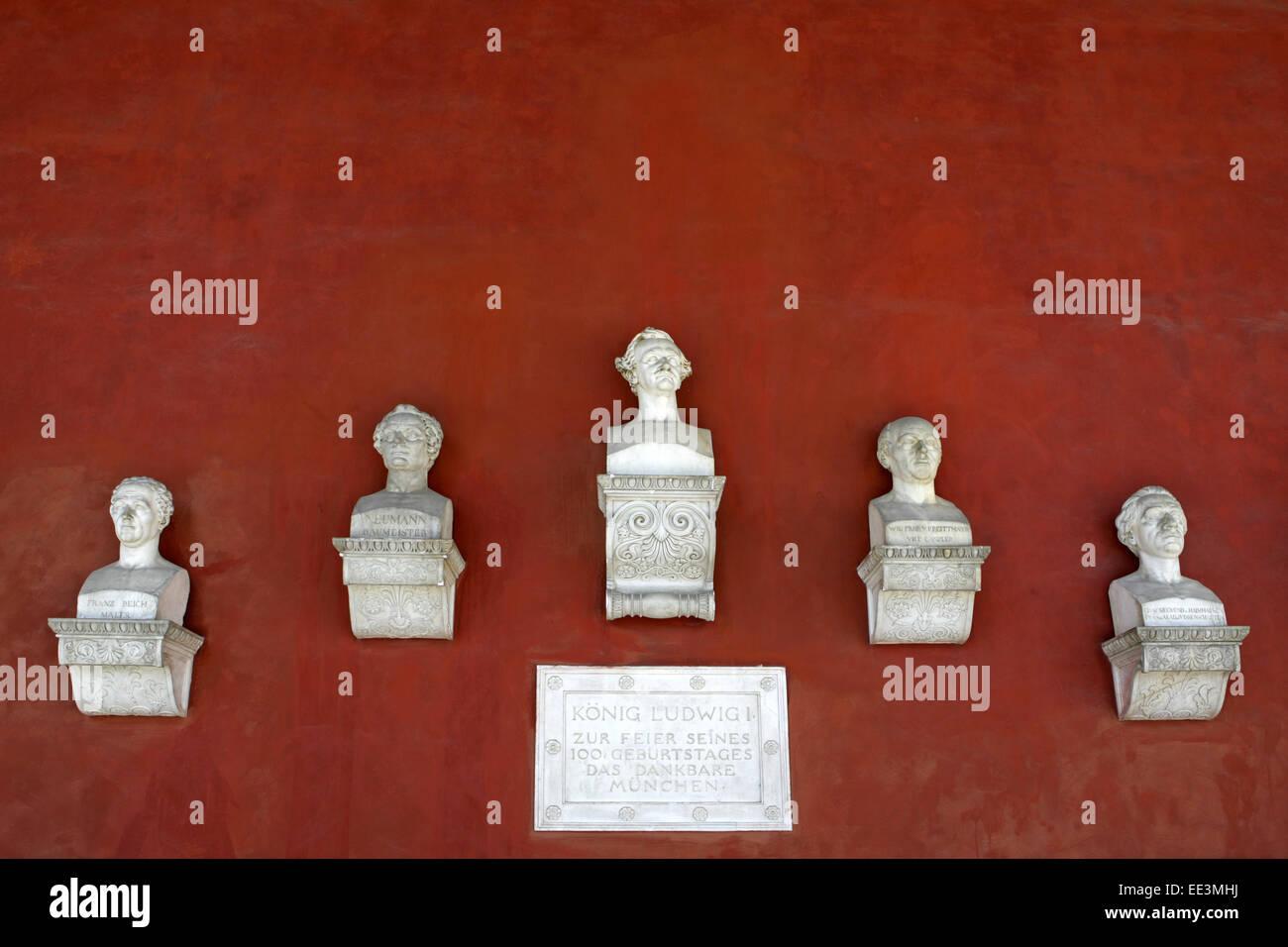 Architektur, Bauwerk, Denkmal, Detail, Halle, Kultur, Kunst, Baureferat, Leo von Klenze, Oberbayern, Persoenlichkeiten, Stockbild