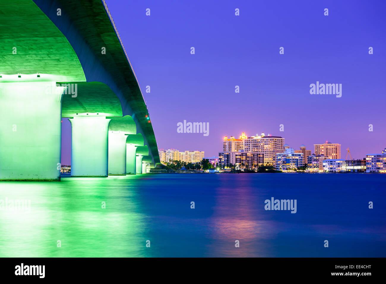 Die Innenstadt von Skyline von Sarasota, Florida, USA. Stockbild