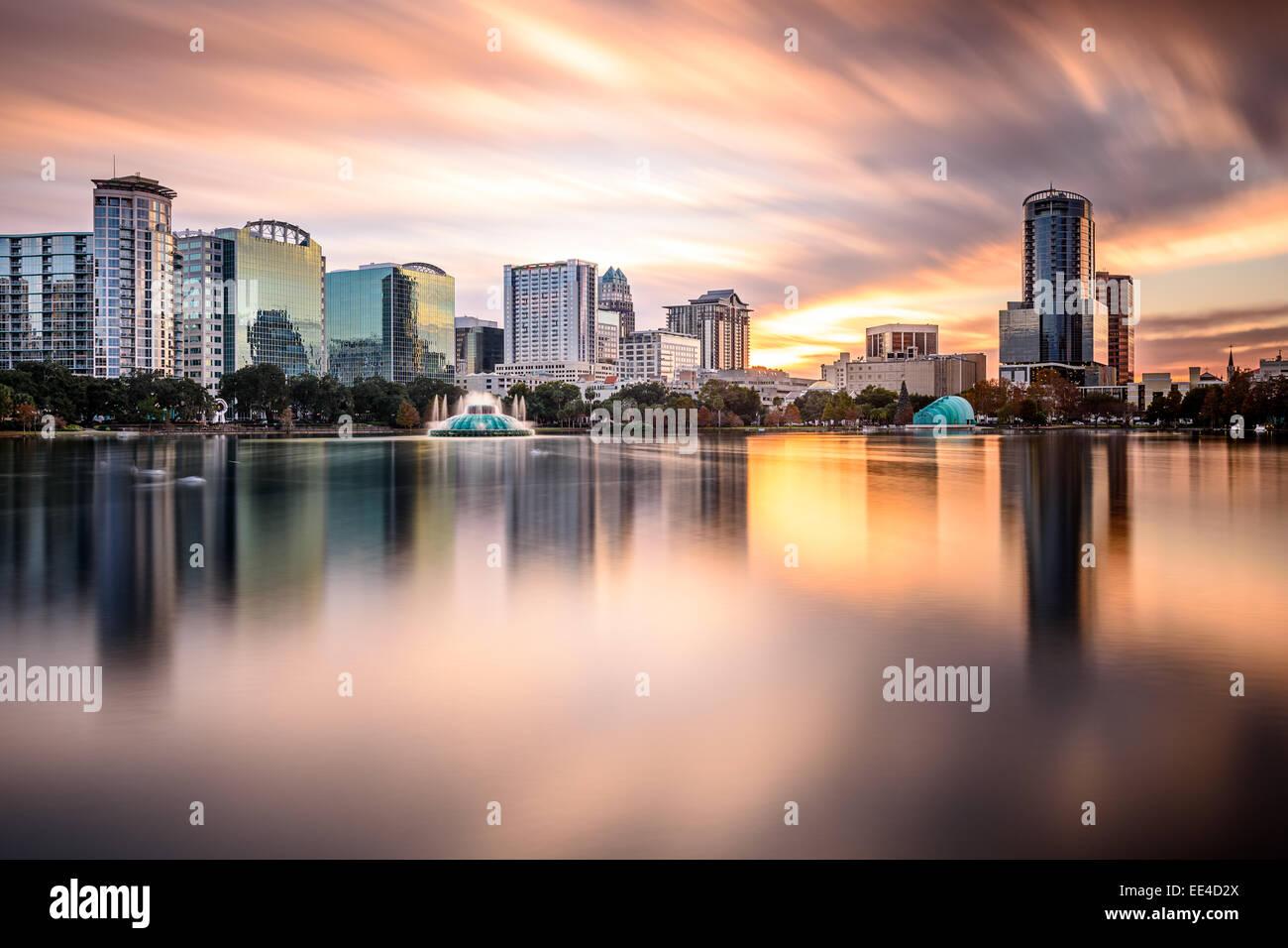 Die Innenstadt von Skyline von Orlando, Florida, USA. Stockbild