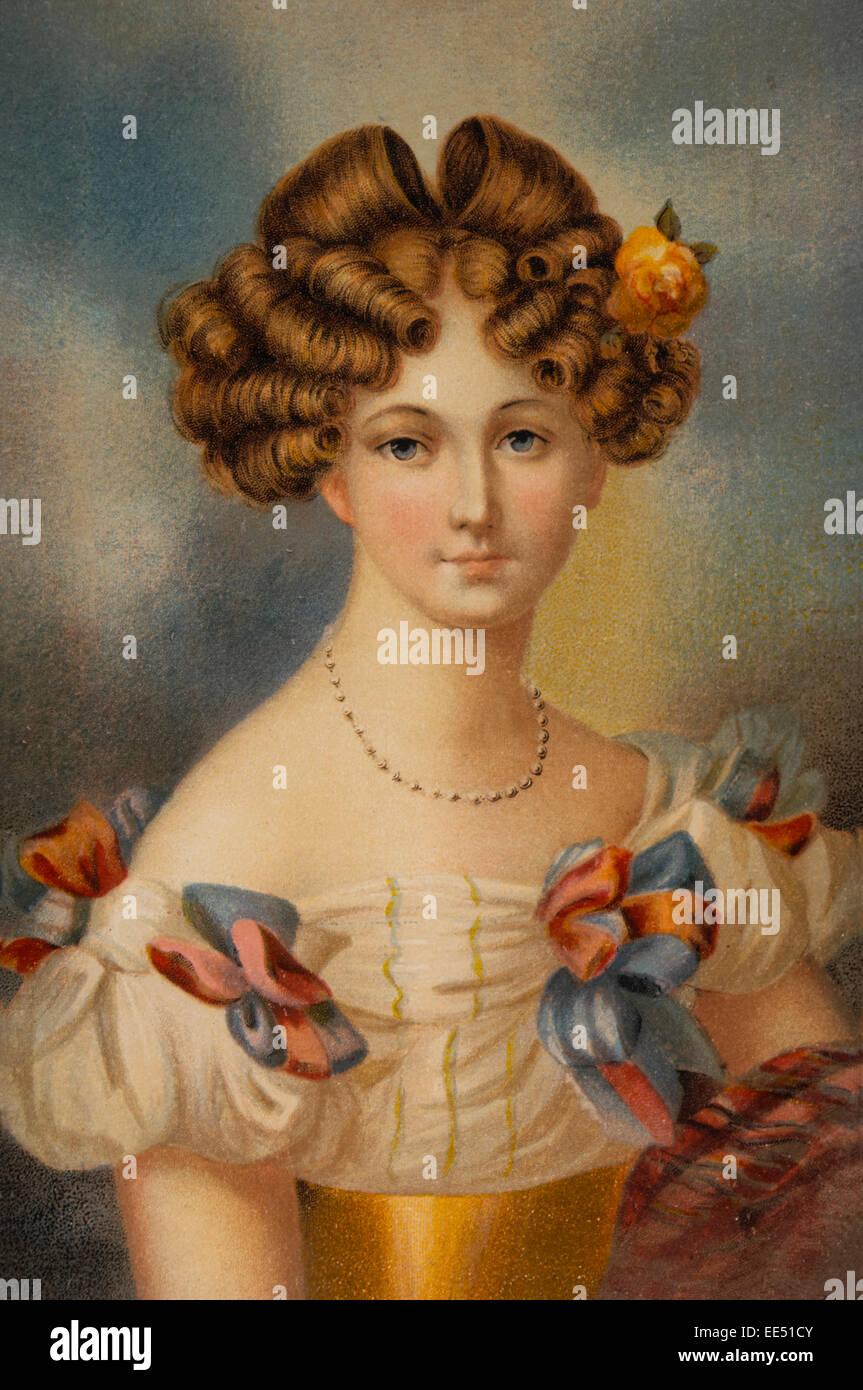 Auguste von Harrach, Gräfin von Hohenzollern, Prinzessin von Liegnitz (1800-1873). Verheiratet mit König Stockbild