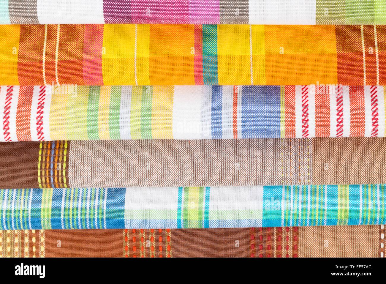 Bunte Kuche Handtucher Closeup Textur Stockfoto Bild 77562196 Alamy