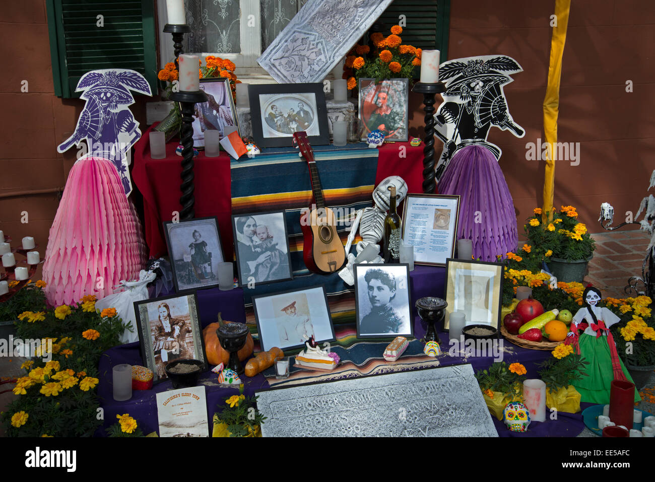Ofrendas (Alter), Dia de Los Muertos, Tag der Toten, Old Town San Diego, Kalifornien USA Stockbild
