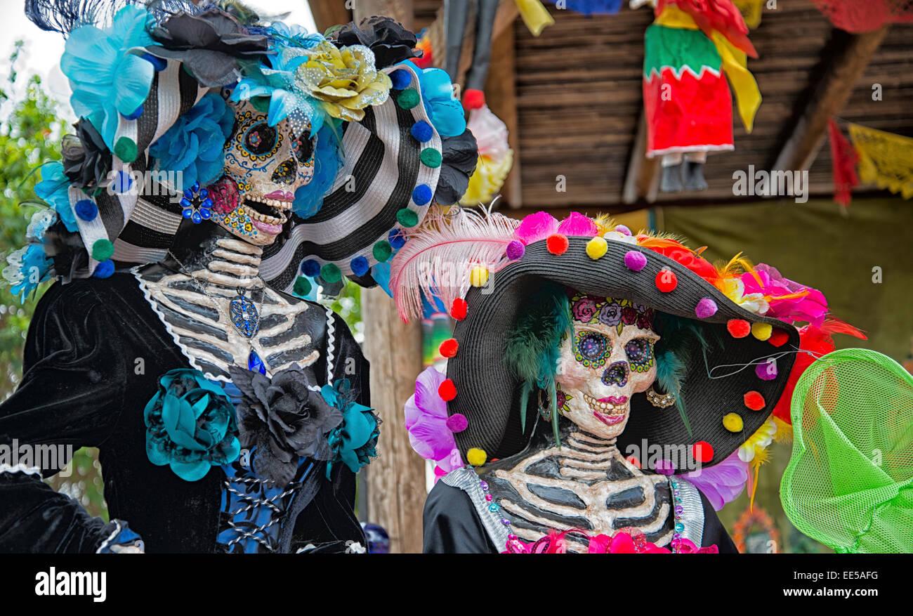 La Catrina, Dia de Los Muertos, Tag der Toten, Old Town San Diego, Kalifornien USA Stockbild