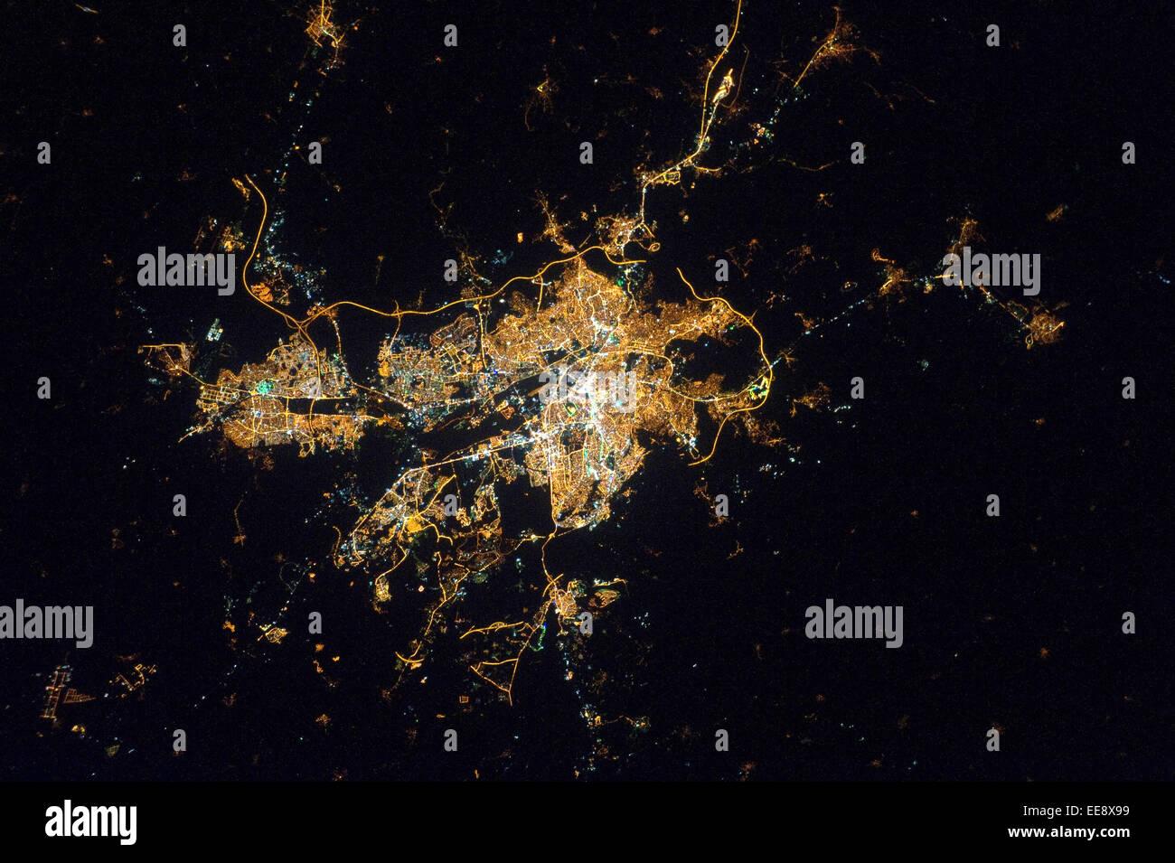 Ankara-Stadt bei Nacht, Türkei Stockbild