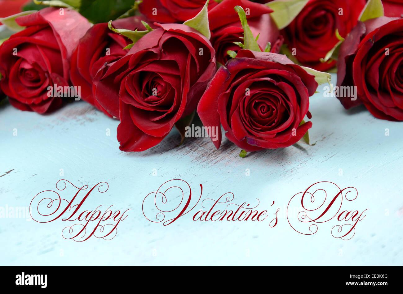 Vintage Rote Rosen Geschenk Für Valentinstag Geburtstag Oder