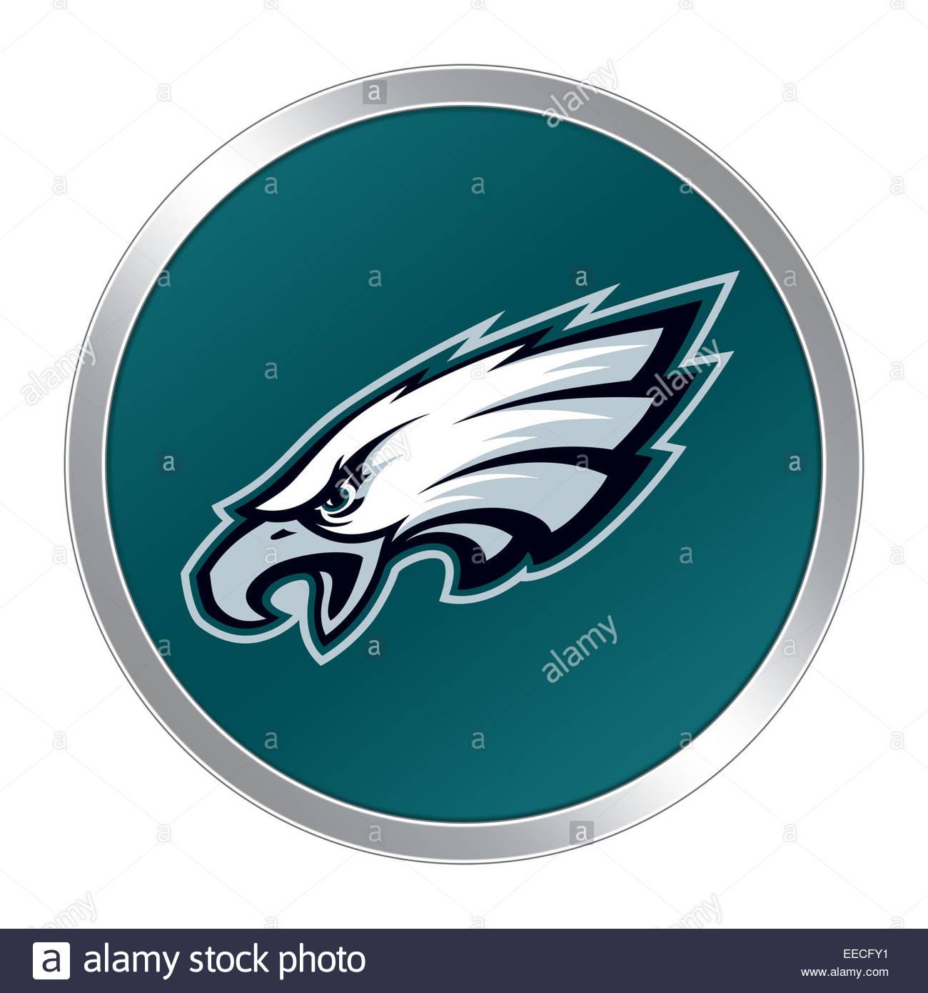 Philadelphia Eagles Logo Symbolschaltfläche Stockfoto Bild