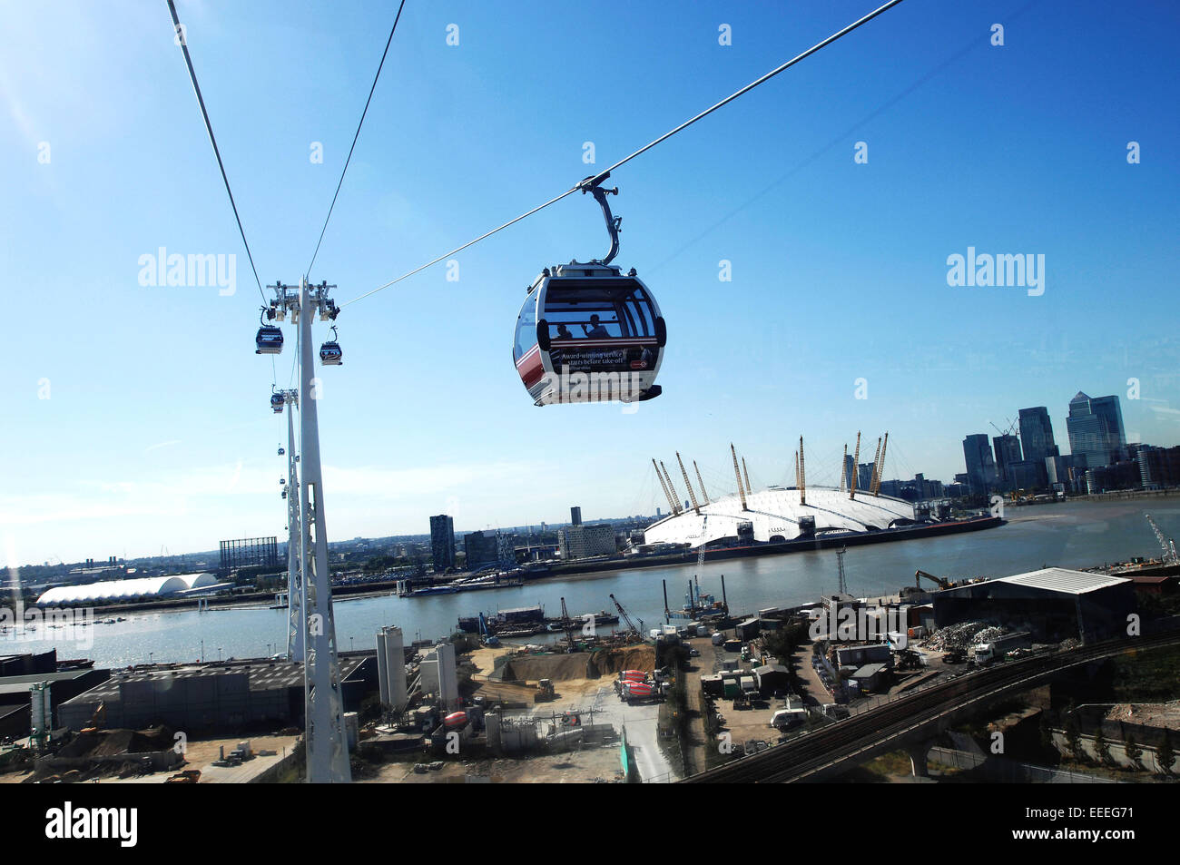 Emirates Air Line Stockbild