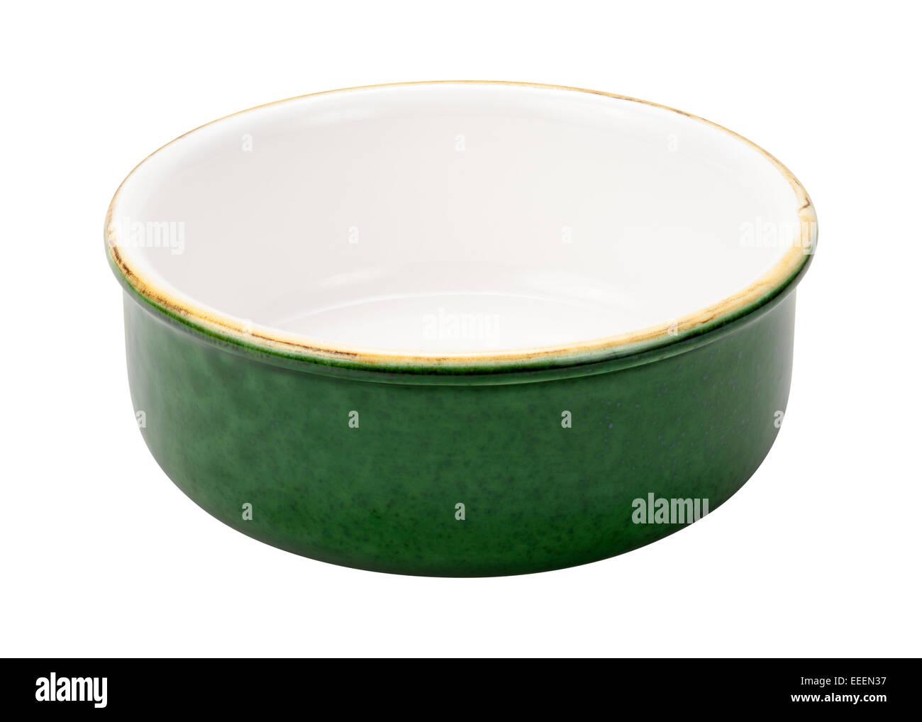 Leere grüne Keramikschale Stockbild