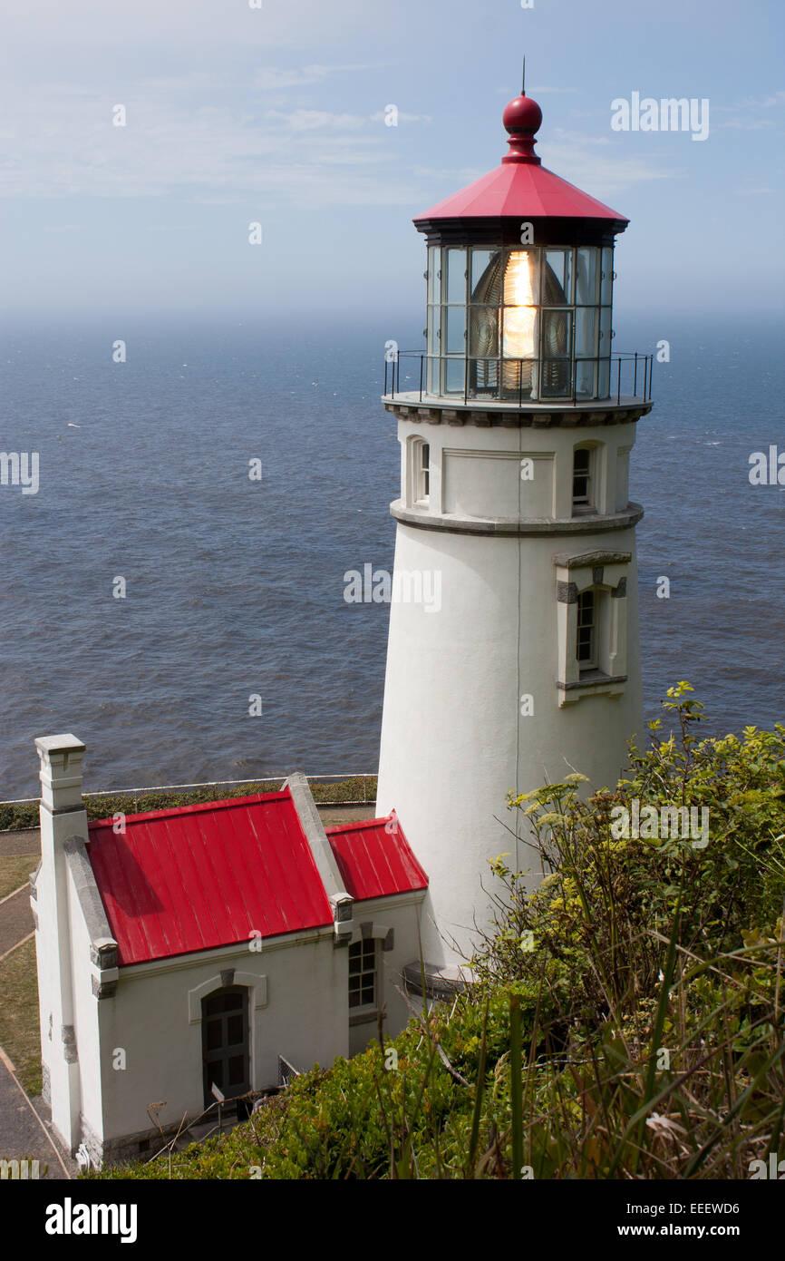 Heceta Head Light Leuchtturm in der Nähe von Florence, Oregon Stockbild