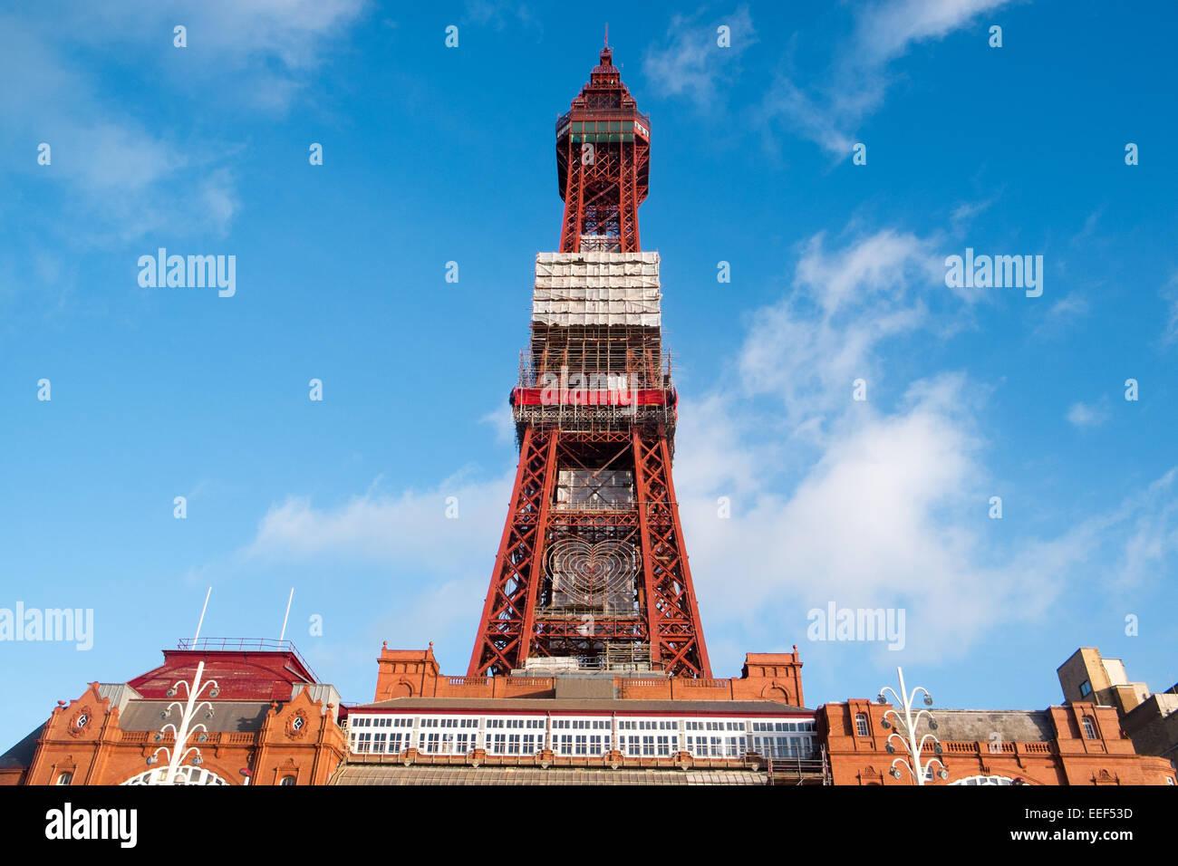 Blackpool Tower Auge ist eine Klasse 1 aufgeführten Struktur, die für die Öffentlichkeit im Jahre Stockbild