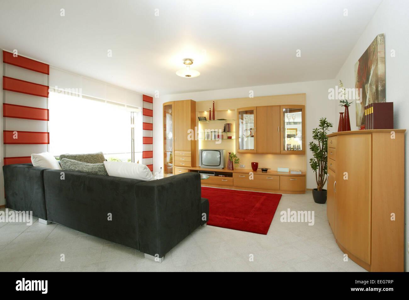 Wohnzimmer Wohnen Innenaufnahme Inneneinrichtung Wohnung Wohnraum ...
