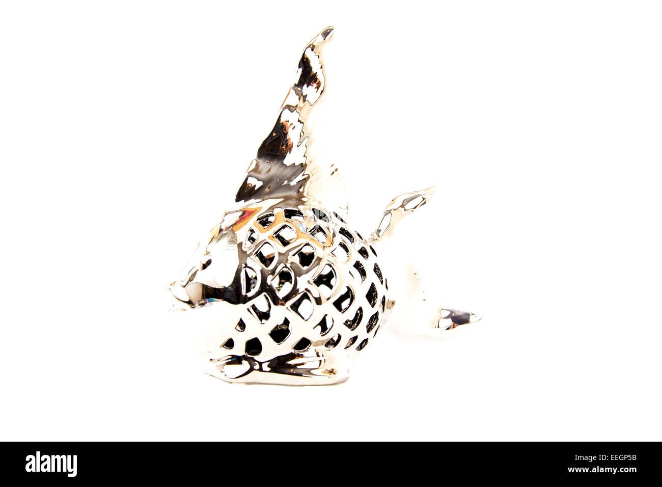 Silver Angel Fisch Ornament Dekorative Chrom Flossen Kopie Raum