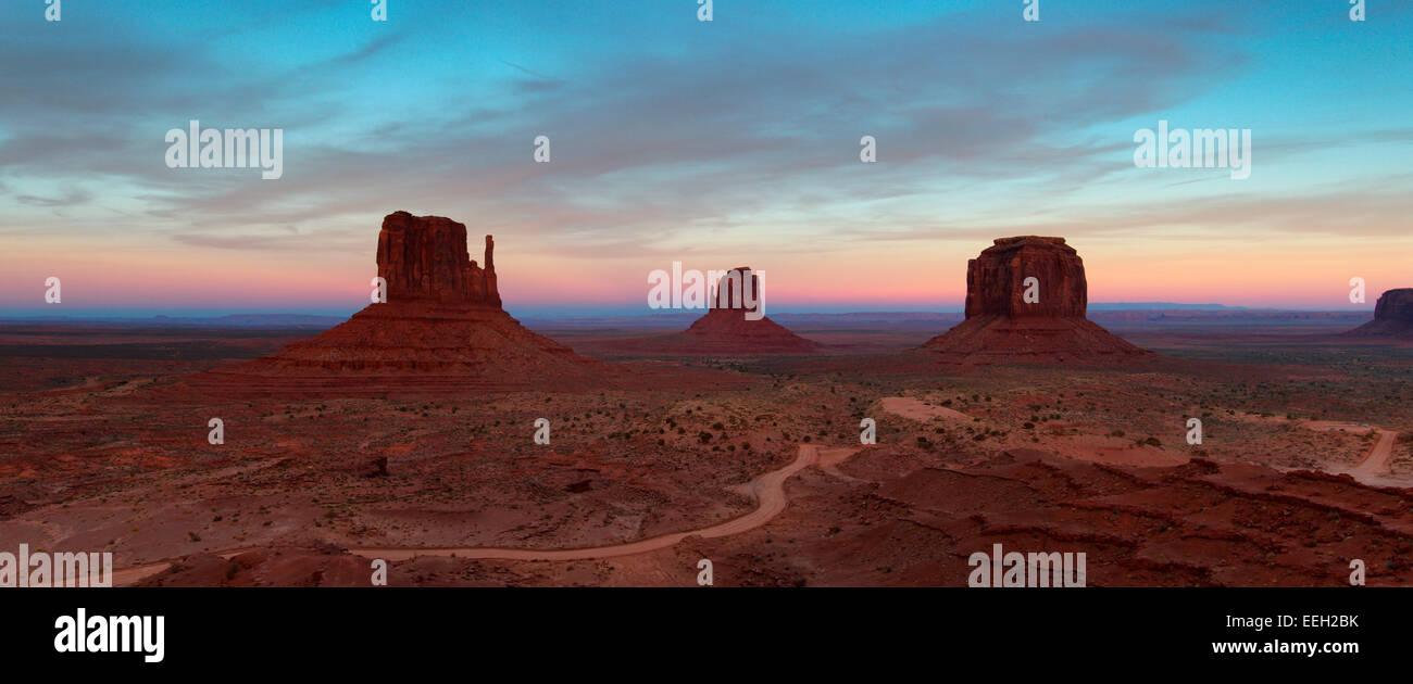 Monument Valley-Panorama Stockfoto
