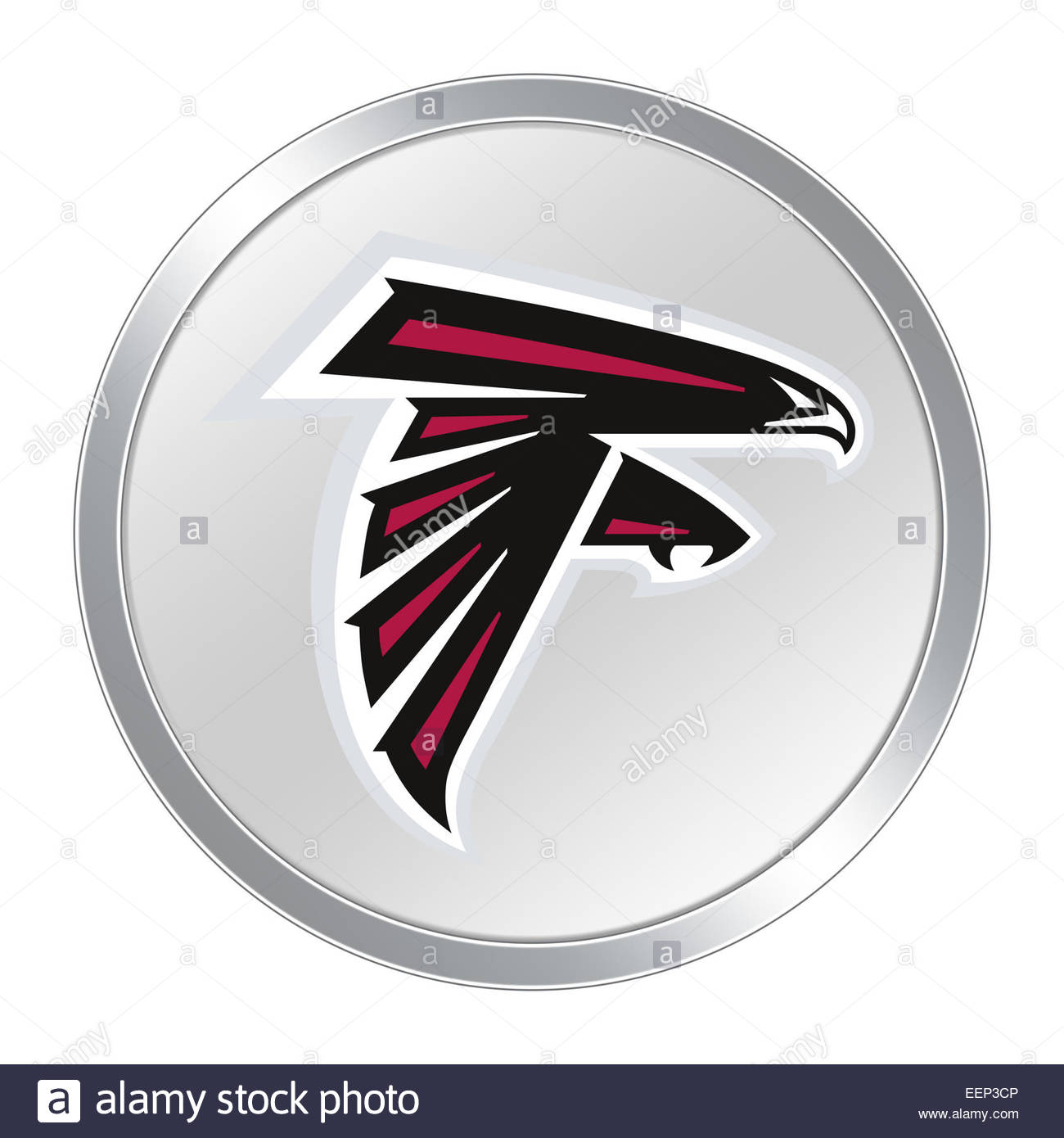 Atlanta Falcons Logo Symbol Buttons Stockfoto Bild 77932310 Alamy