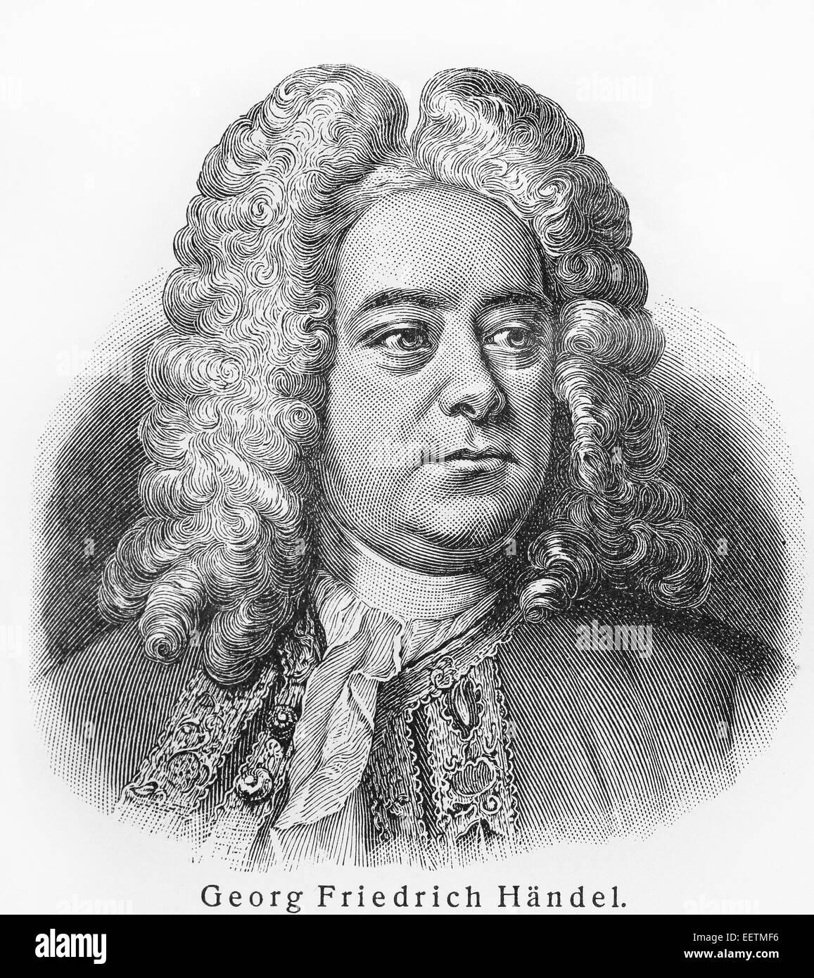 Georg Friedrich Händel Stockbild