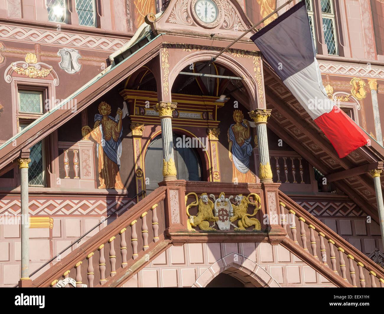 Mulhouse Frankreich hotel de ville mulhouse frankreich eingang historique de mulhouse