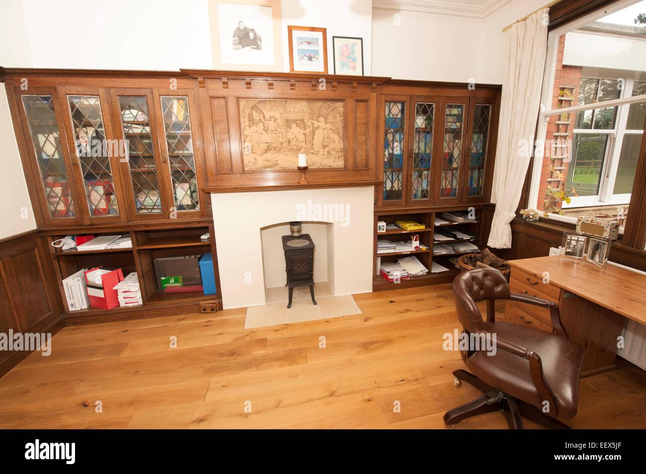 Fußboden Küche ~ Fußboden aus eichenholz getäfelte küche drawing room bücherregale