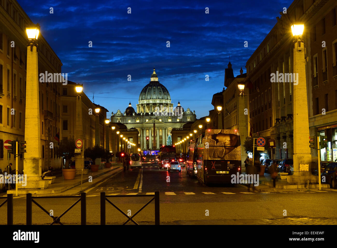 Die Straße bis St. Peters Platz Stockbild