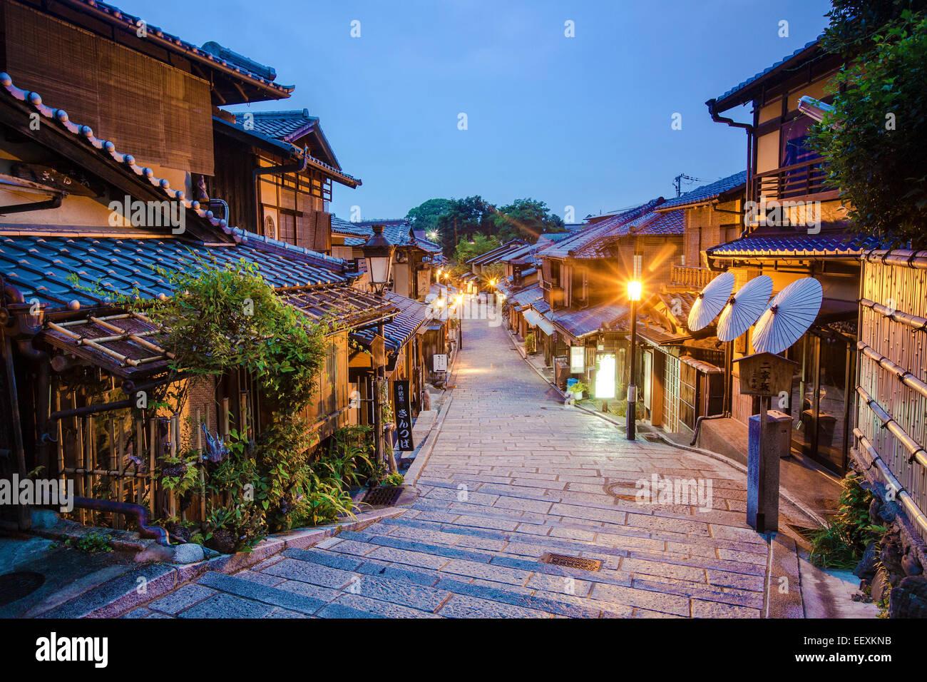 Kyoto zurück Straße Stockbild