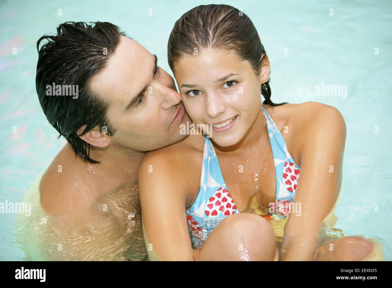 Paar Mann Frau Verliebt Flirt Flirten Gemeinsam Entspannung