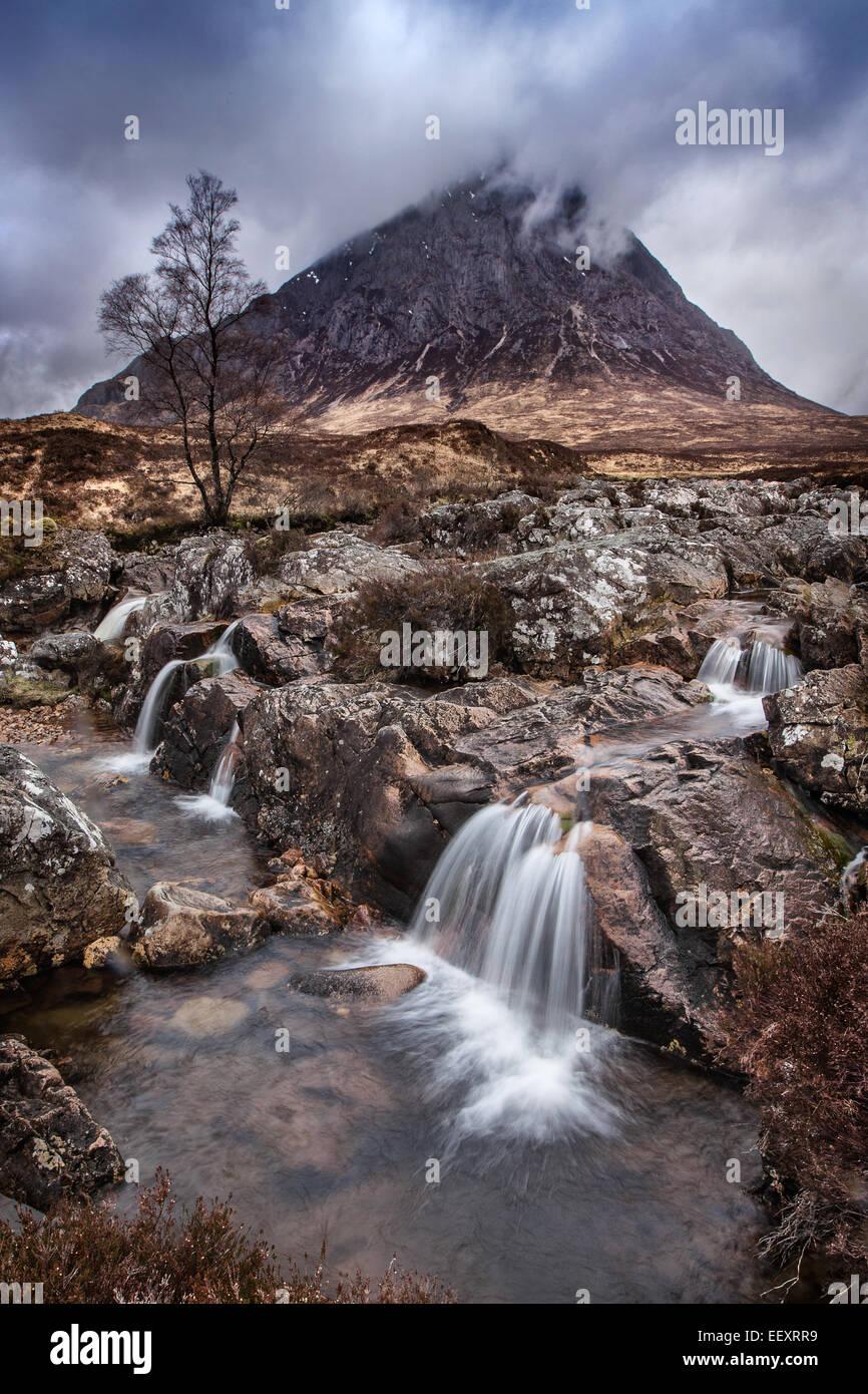 Etive Moor-Schottland Stockbild