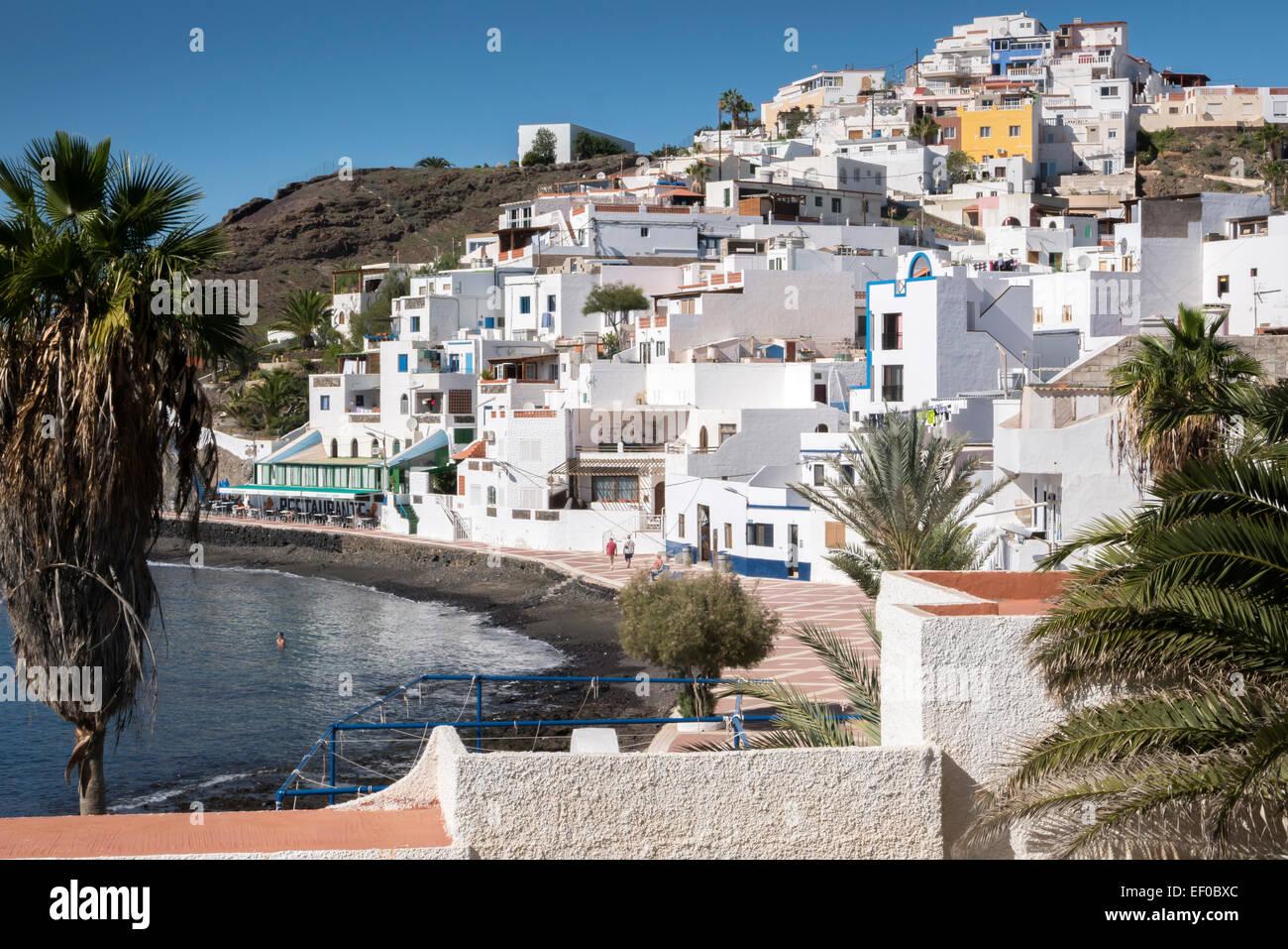 Las Kanaren Playitas Tuineje Fuerteventura Spanien Stockbild