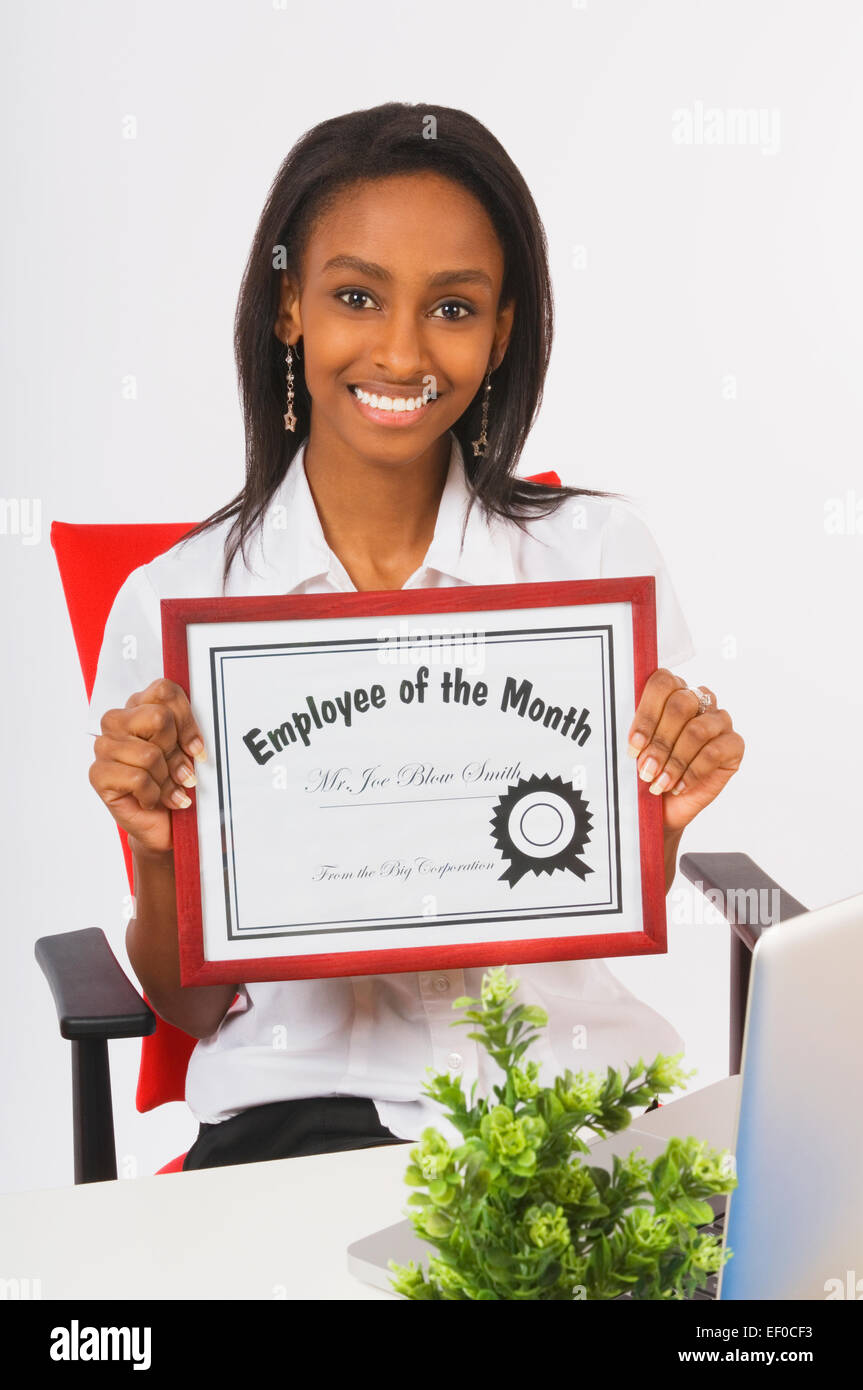 Employee Of The Month Certificate Stockfotos & Employee Of The Month ...