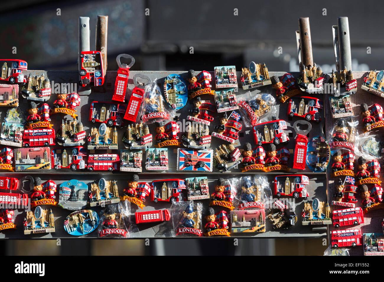 London-Kühlschrank-Magnete zum Verkauf an einen Markt stall bei ...