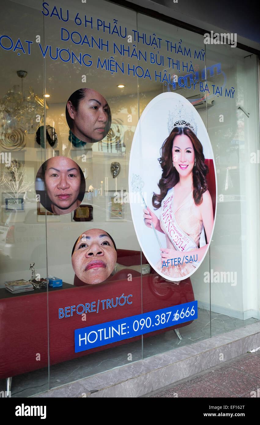 Beauty-Salon in Ho-Chi-Minh-Stadt-Vietnam Stockbild