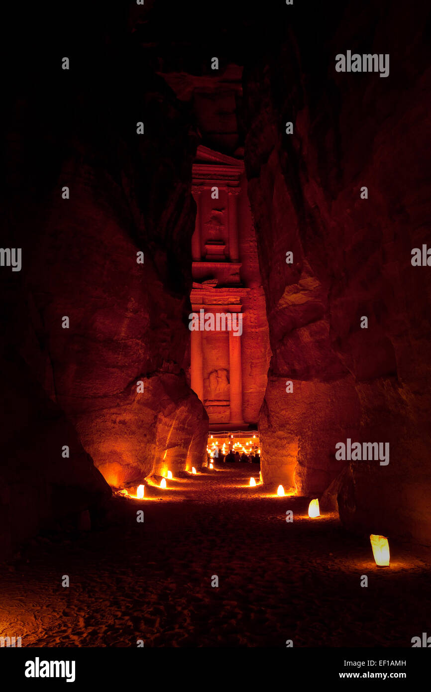 Petra in Jordanien Stockbild