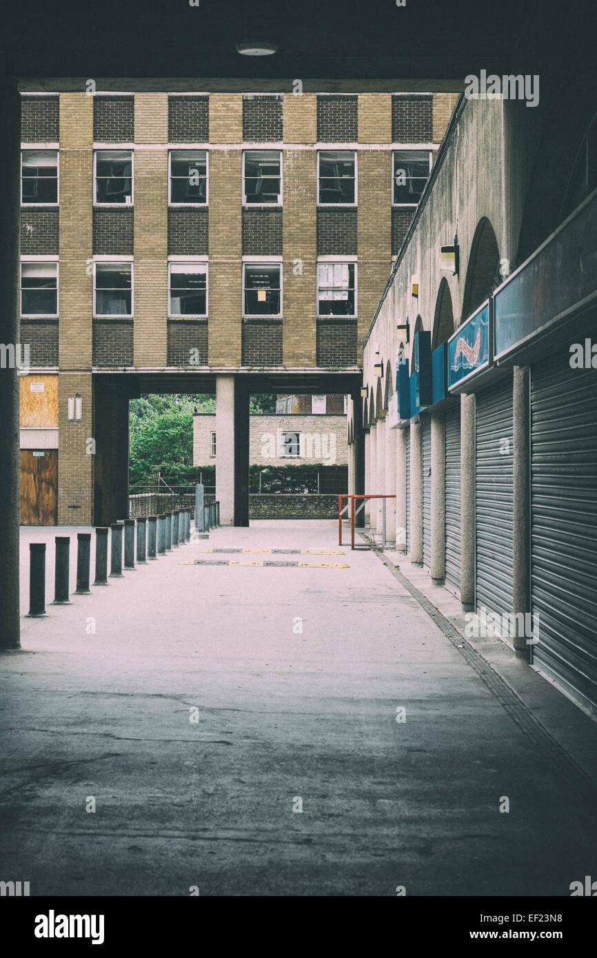 Verlassener Gebäude Keynsham Bristol Stockbild