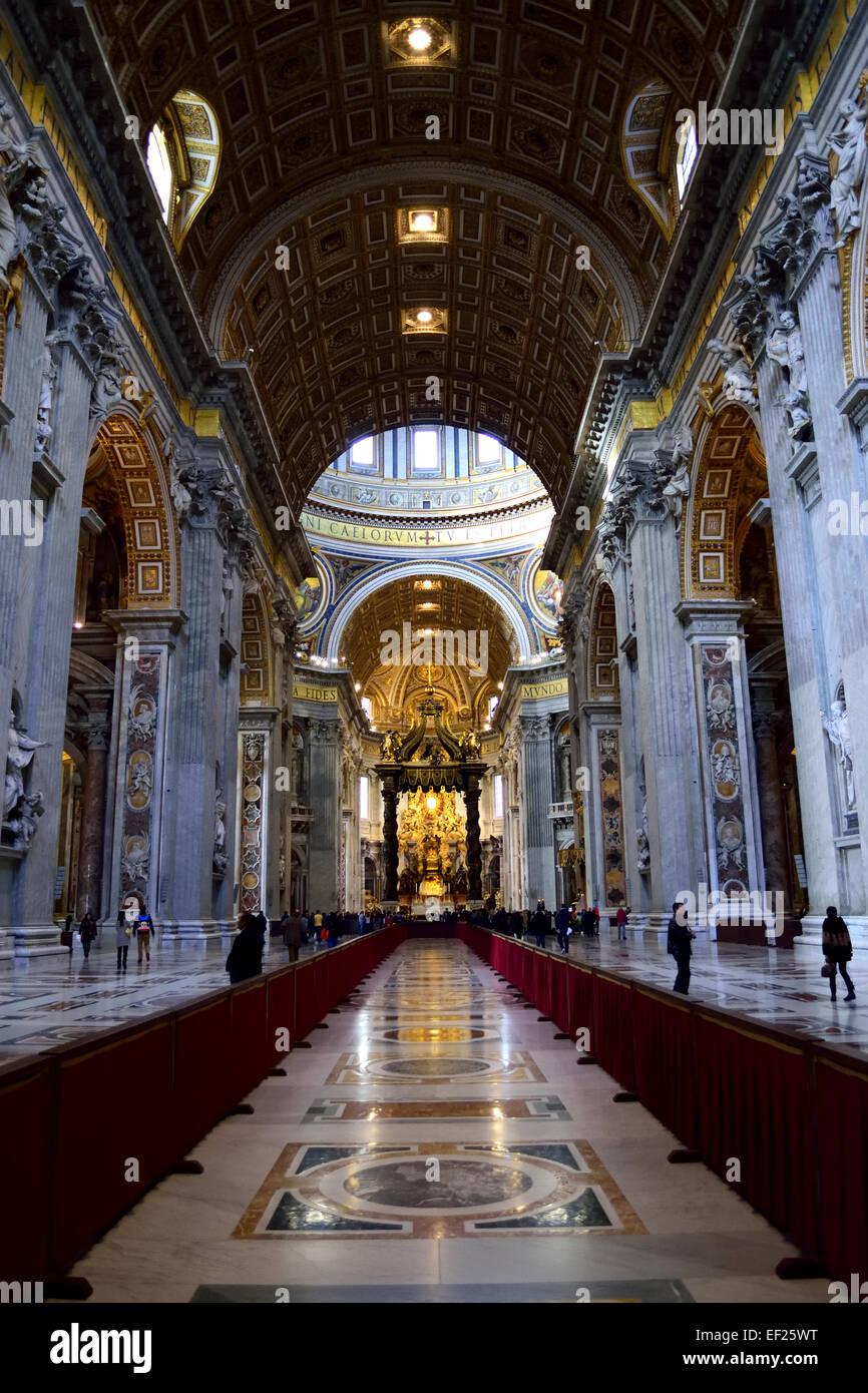 In St. Peters Basilika, Rom, Italien Stockbild