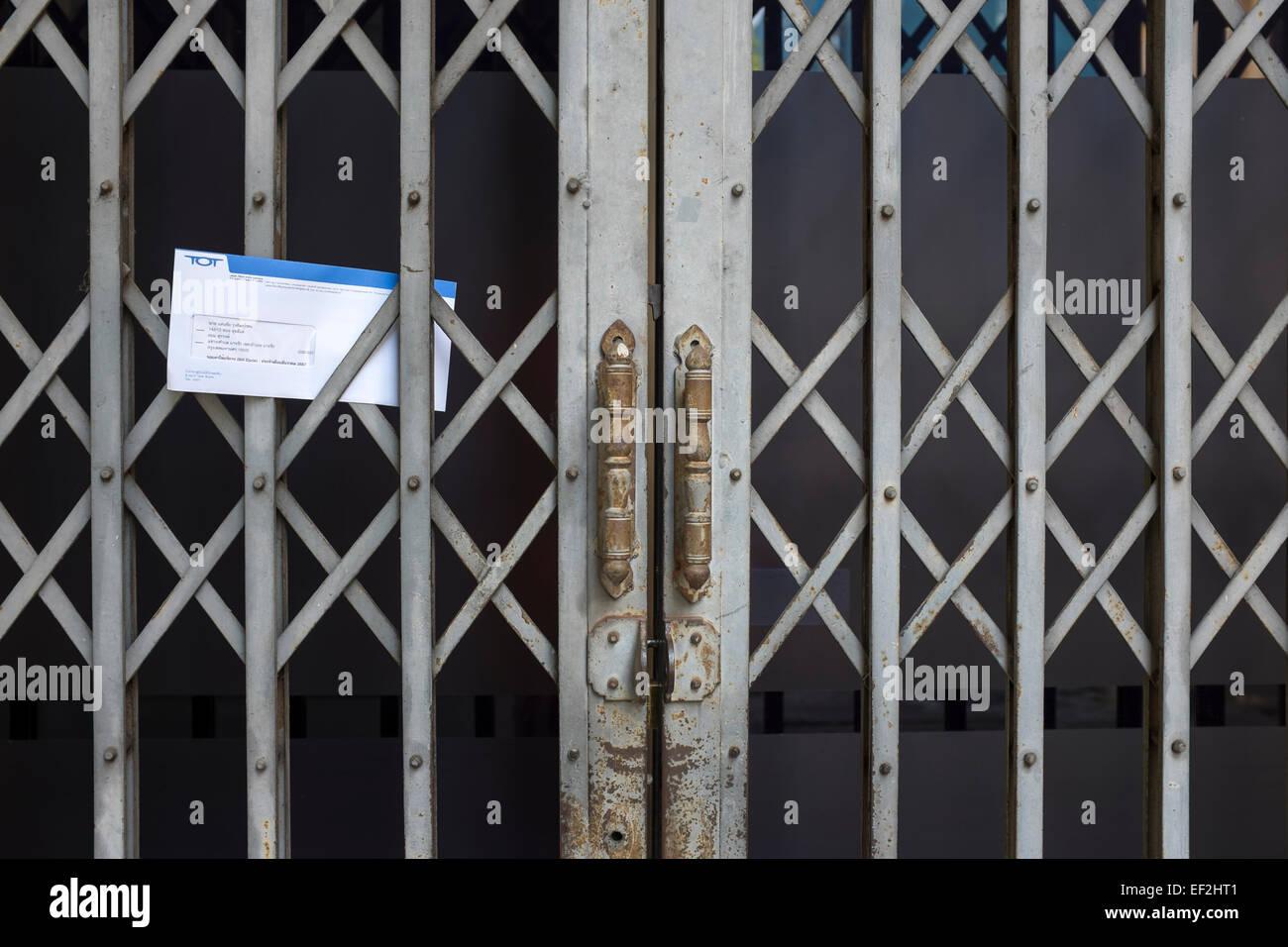 Briefe nach Haus Bangkok Thailand Stockfoto
